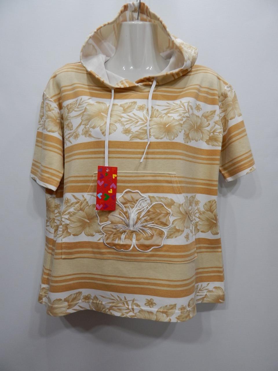 Толстовка - фірмова футболка жіноча з капюшоном Blue Wave Oversize UKR 50-52 р. 103PT