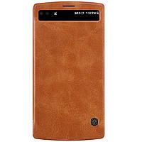 Кожаный чехол Nillkin Qin для LG V10 коричневый, фото 1