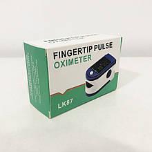Пульсоксиметр Fingertip pulse oximeter LK87. Колір: синій