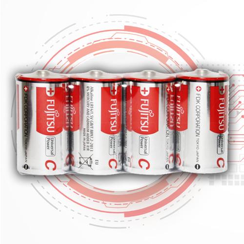 Батарейки LR14 / C алкалінова Fujitsu, лужні батарейки бочка середня тип З LR14 - 4 шт