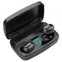 Bluetooth стерео навушники безпровідні c боксом для зарядки Air J16 TWS Original. Колір: чорний
