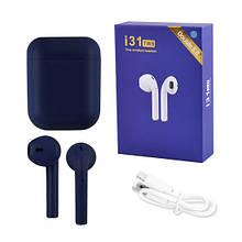 Бездротові Bluetooth-навушники TWS i31-5.0. Колір: темно-синій