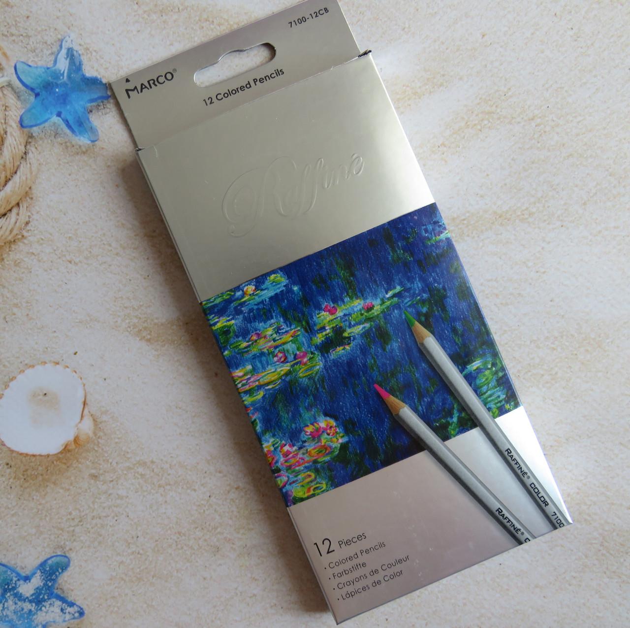 Цветные карандаши Marco Raffine 12 цветов