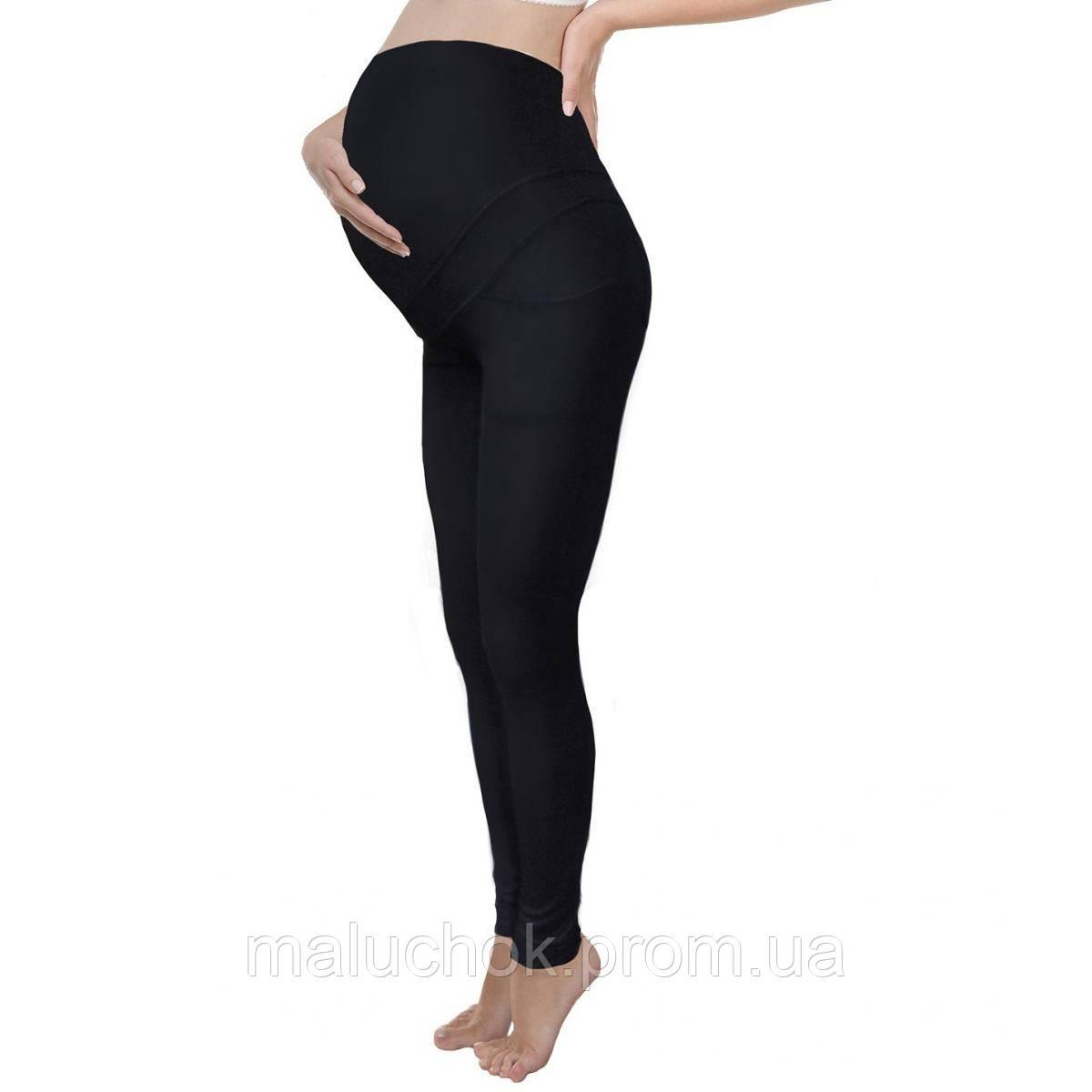b9bf7ad9f321 Леггинсы-брюки утепленные черные для беременных и кормящих мам