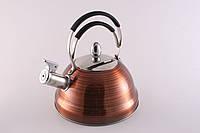 """Чайник для кипячения воды со свистком 2,3 л. из нержавеющей стали """"Cairo"""" серый"""