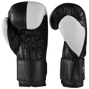 Боксерские перчатки FGT 3555, Flex, 10oz черный/белый, фото 2