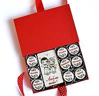 Подарки для женщин. Подарочный набор конфет с пожеланиями