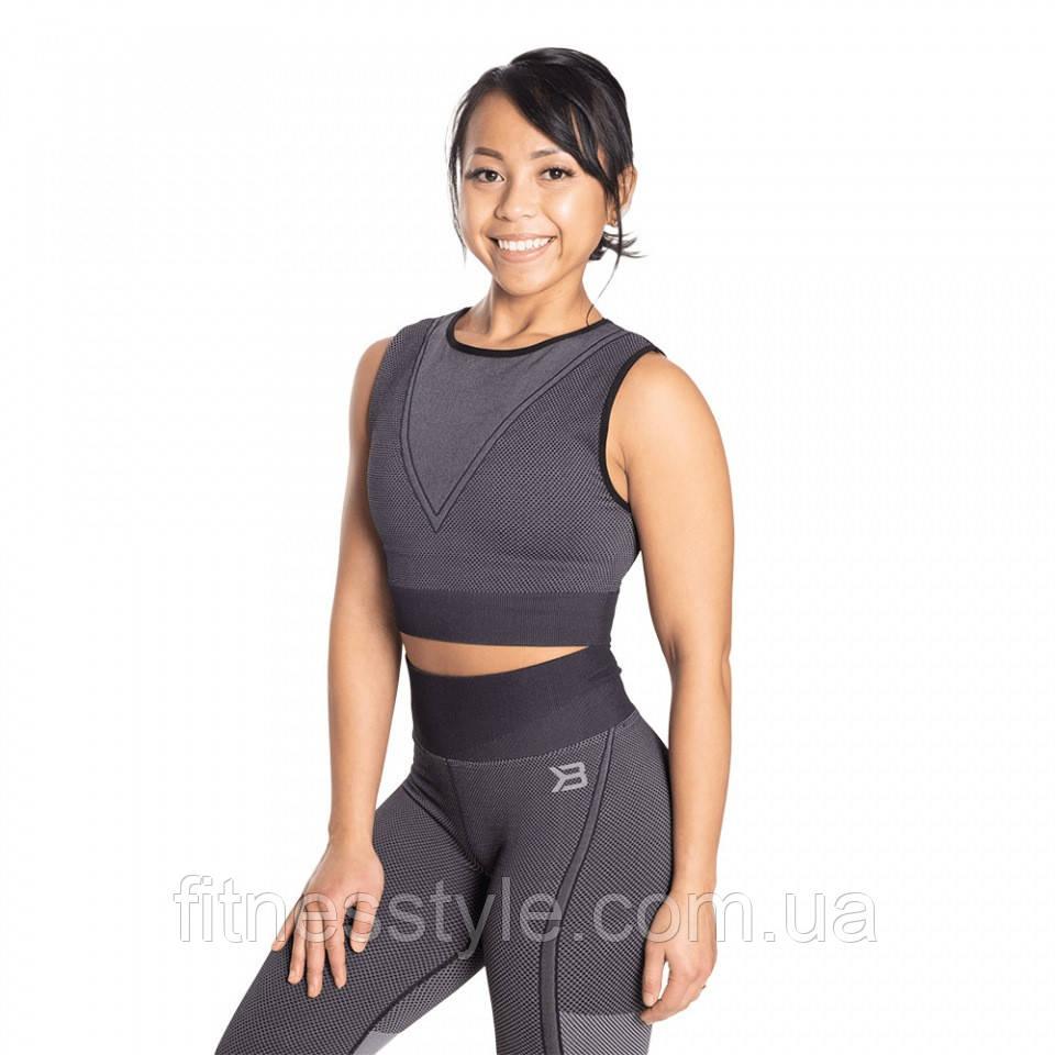 Спортивный топ Better Bodies Roxy Seamless Top, Black/Grey