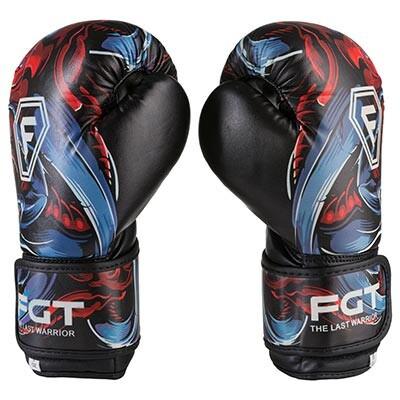 Боксерские перчатки FGT, Flex, 6oz, рисунок, red style