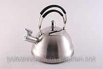 """Чайник для кипячения воды со свистком 2,3 л. из нержавеющей стали """"Bristol"""" серый"""
