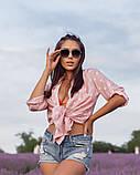 Жіноча красива пляжна туніка - сорочка в зірочки, норма і батал оливка сіра рожева, фото 2