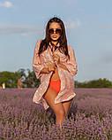 Жіноча красива пляжна туніка - сорочка в зірочки, норма і батал оливка сіра рожева, фото 3