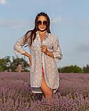Жіноча красива пляжна туніка - сорочка в зірочки, норма і батал оливка сіра рожева, фото 6
