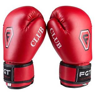 Боксерские перчатки CLUB FGT, Flex, 6oz, красный, фото 2