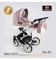 Дитяча універсальна коляска Adbor OTTIS 3 в1.WHITE OW-02