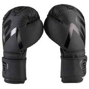 Боксерские перчатки черные с печать на манжете FGT collection 3035, Flex, 10oz, фото 2