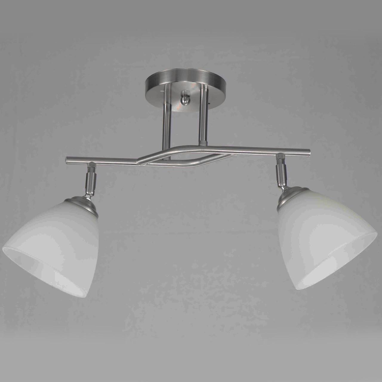 Люстра стельова на дві лампи 29-C612/2 CR+WT