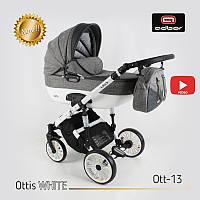 Дитяча універсальна коляска Adbor OTTIS 3 в1.WHITE OW-13, фото 1