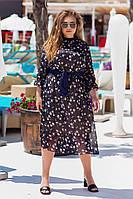 Жіноче шифоное плаття батал, фото 1