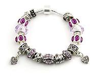Браслет в стиле PANDORA - Кристальные узоры