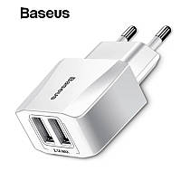 Зарядное устройство Baseus Mini Dual-U 2USB 2.1A, фото 1