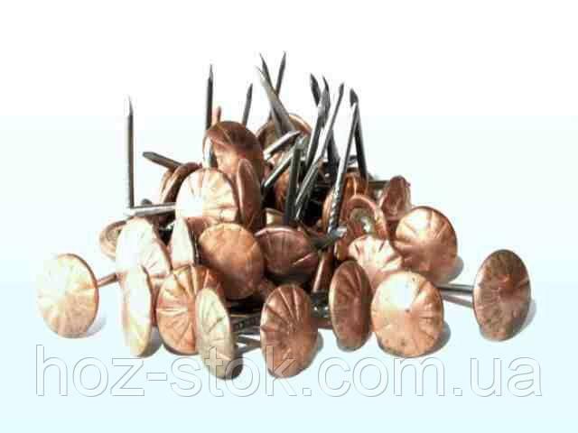 Цвяхи фасовані декоративні металеві (80 г) мідь