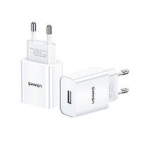 Сетевое зарядное устройство Usams US-CC075 T18 Single USB, 2.1A