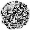 Наклейки, стікери, Sticker Bombing MIX Metallic Style 25шт