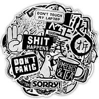 Наклейки, стикеры, Sticker Bombing MIX Metallic Style 25шт