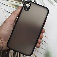 Чехол TOMOCOMO (FULL PROTECTION) for iPhone XR Black, фото 1