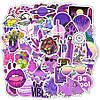 Наклейки, стикеры, Sticker Bombing MIX Girl Violet Style 25шт