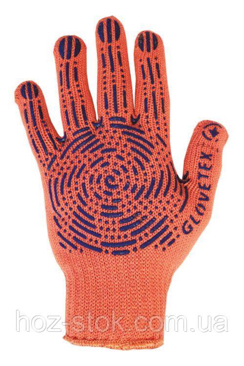 Рукавиці Комплект з ПВХ ГЛАВТЕКС оранж 7 кл, L, 68 м (етикетка) (761Э)
