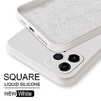 Чехол ASTUBIA Square Liquid Silicone Case For iPhone 12 White