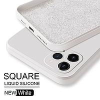 Чохол ASTUBIA Square Liquid Silicone Case For iPhone 11 White