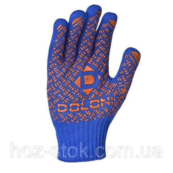 Рукавиці Doloni трикотажні сині з пвх Універсал PRO, 10 клас (4450)