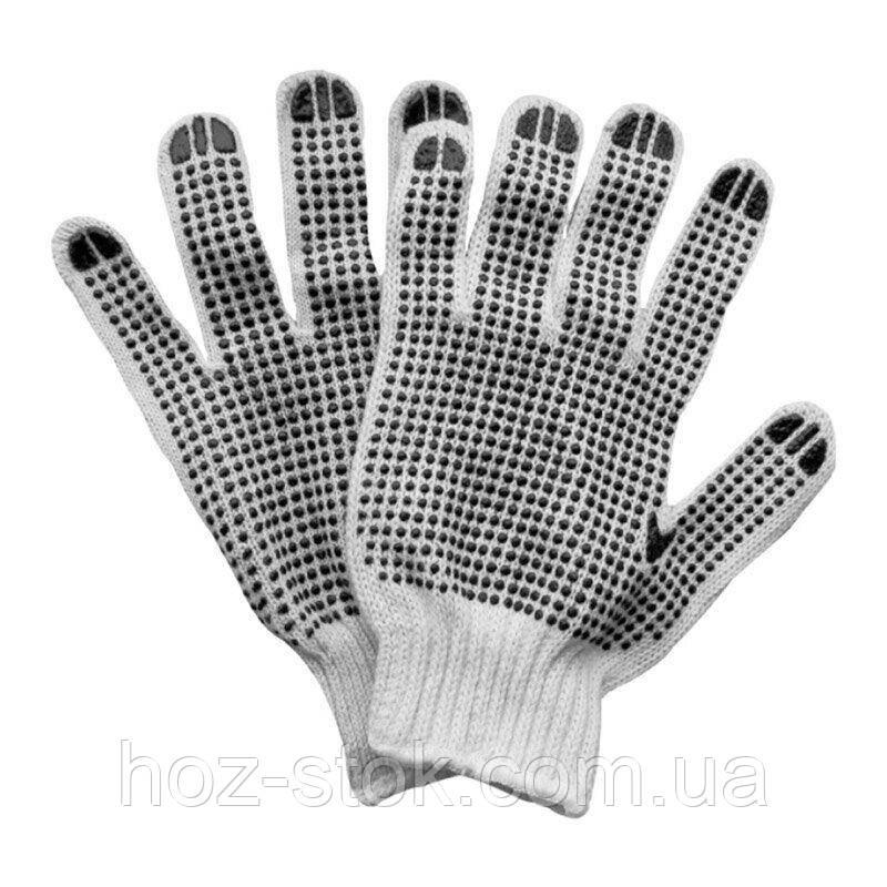 Рукавички трикотажні з крапковим покриттям ПВХ р10, односторонній манжет (9442331)