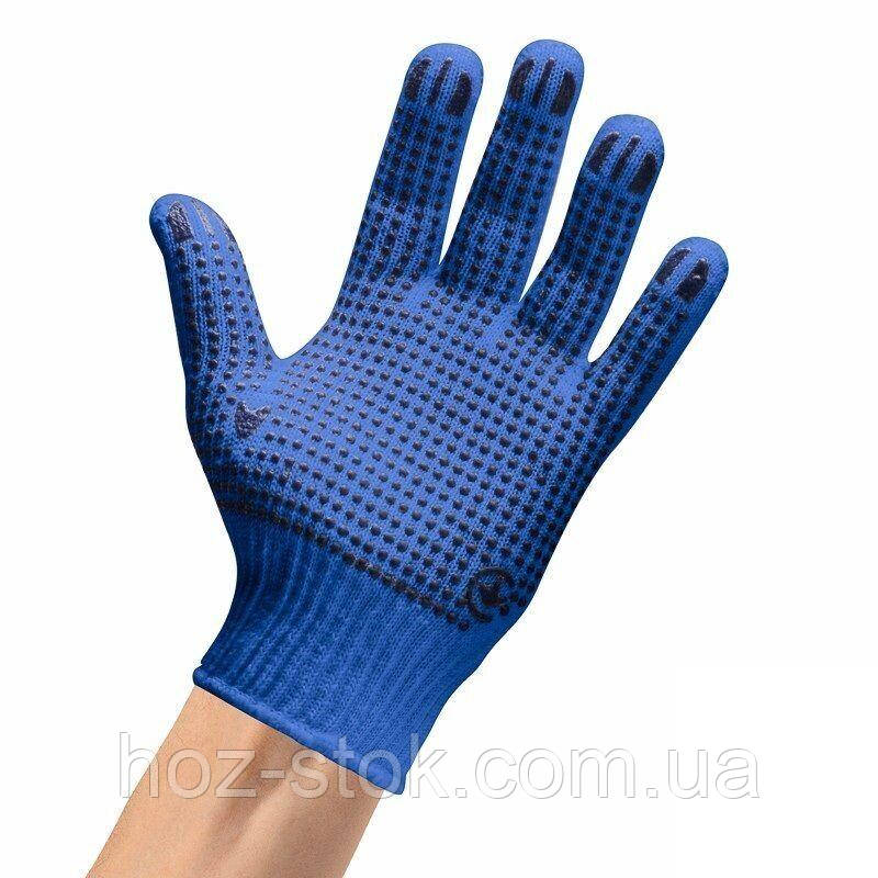 Рукавички трикотажні робочі арт. 10К101 сині ВТФ, ВТФ
