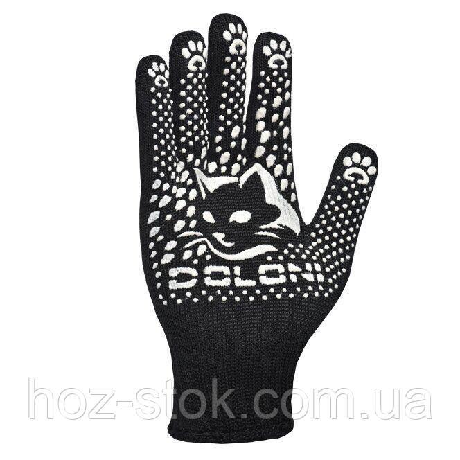 Рукавички Doloni з ПВХ трикотажні КотоФан, чорні, клас 10, розмір 8