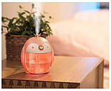 Портативний міні-зволожувач повітря Fuliying з нічником Рожевий (AirMist201QE), фото 2