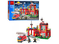 Конструктор brick пожарная тревога, 380 деталей, арт. 910 hn kk