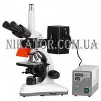 Лабораторный бинокулярный микроскоп MC-100 Daffolid с флуоресцентным блоком
