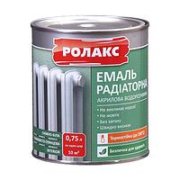 Емаль акрилова водорозчинна для радіаторів Premium Rolax, 0,93 кг
