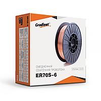 Дріт зварювальний ER70S-6 d = 1.2 мм, 15 кг червона (нетто 14.5 кг) (WW-6R12145C)