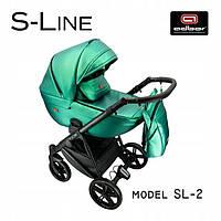 Дитяча універсальна коляска Adbor S-LINE 02. З Еко Шкіри! Новинка 2021 року