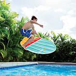 """Пляжный надувной плотик Intex 58152 178x69 см """"Серфинг"""" размером 178x69 см матрас для плавания, фото 3"""