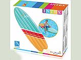 """Пляжный надувной плотик Intex 58152 178x69 см """"Серфинг"""" размером 178x69 см матрас для плавания, фото 4"""