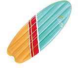 """Пляжный надувной плотик Intex 58152 178x69 см """"Серфинг"""" размером 178x69 см матрас для плавания, фото 5"""