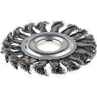 Щітка кільцева 100х22.2 мм, плетінь дріт, сталь (NTWWB10022ST)
