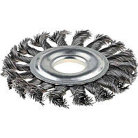 Щітка кільцева 115х22.2 мм, плетінь дріт, сталь (NTWWB11522ST)