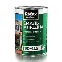 Ролакс Емаль ПФ-115  біла 0,9кг